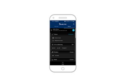 screenshot of bluelink app on the iPhone: Stav vozidla.